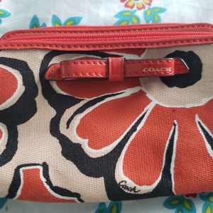 Coach Orange Poppy Wristlet